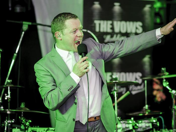 Damien Bowe singing live The Vows Wedding Band
